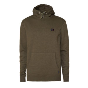 LES DEUX PIECE HOODIE LDM201017-506025-DARK GREEN MELANGE/DARK NAVY-RUSTY BROWN
