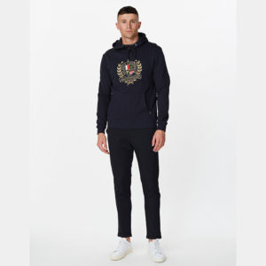 LES DEUX EGALITE HOODIE LDM201038-460000-DARK NAVY WITH MULTICOLOR ARTWORK