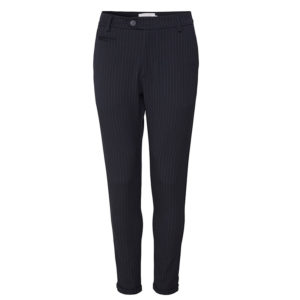 LES DEUX COMO PINSTRIPE SUIT PANTS LDM501002-460805-DARK NAVY/RUSTY BROWN