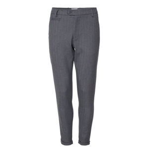 LES DEUX COMO HERRINGBONE SUIT PANTS LDM501031-310360-LIGHT GREY MELANGE/CHARCOAL