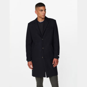 LES DEUX MADISON WOOL COAT LDM620016-460460-DARK NAVY
