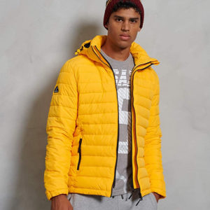 SUPERDRY HOODED FUJI JACKET M5010201A-EVJ-WARM YELLOW