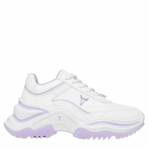 WINDSOR SMITH CHAOS LEATHER SNEAKERS 0112000480-LILAC
