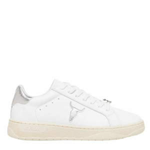 WINDSOR SMITH GALAXY W LEATHER SNEAKERS 0112000527-SILVER