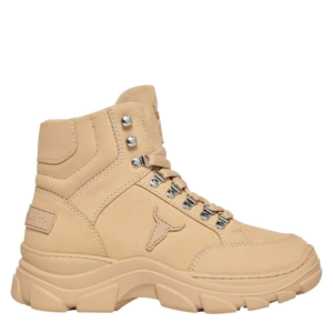 WINDSOR SMITH GANG LEATHER SNEAKERS 0112000542-BEIGE