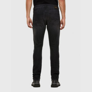 DIESEL D-LUSTER  L.32 5 POCKETS TROUSERS 00SID9-009EN-02-BLACK/DARK GREY