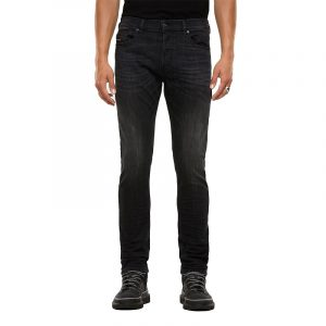 DIESEL D-LUSTER  L.34 5 POCKETS TROUSERS 00SIDA-009EN-02-BLACK/DARK GREY