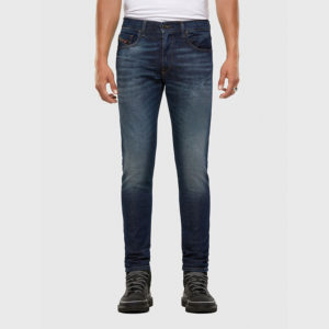 DIESEL D-STRUKT  L.32 5 POCKETS TROUSERS 00SPW5-009GQ-01-DARK BLUE