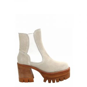 JEFFREY CAMPBELL PRESTON PLATFORM ANKLE BOOTS 0101003088-WHITE