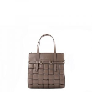 LA CARRIE SQUARE WOVEN BAG ECOPELLE 102M-CL-111-EP-TAUPE