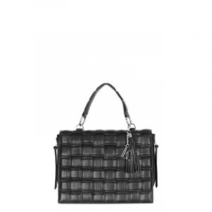 LA CARRIE WOVEN LARGE SHOPPING ECOPELLE 102M-TL-210-EP-BLACK