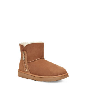 UGG BAILEY ZIP MINI BOOTS 1112481-CHESTNUT