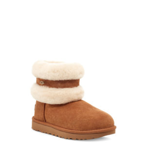 UGG FLUFF MINI BELTED BOOTS 1112483-CHESTNUT