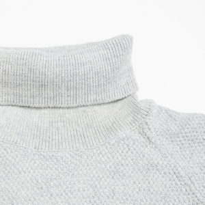 GABBA LAMP ROLL NECK KNIT P4914-LT GREY MEL