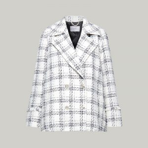 MARELLA CONTE SHORT COAT 30860606-002-WHITE