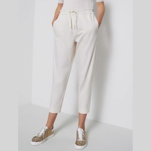 MARELLA NASCO JOGGER TROUSERS 31360707-003-WHITE