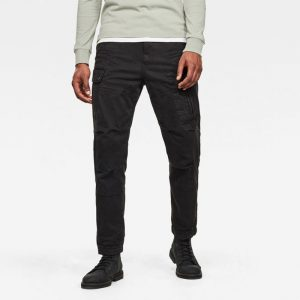 G-STAR RAW ROXIC STRAIGHT TAPERED CARGO PANT 5 POCKETS D14515-C096-B564-DARK BLACK GARMENT DYED
