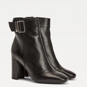 TOMMY HILFIGER BASIC SQUARE TOE BOOT FW0FW05154-BDS-BLACK