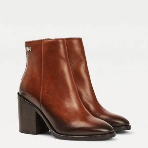TOMMY HILFIGER SHADED LEATHER HIGH HEEL BOOT FW0FW05164-GOW-PUMPKIN PARADISE