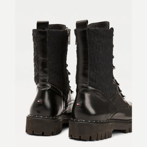 TOMMY HILFIGER MATERIAL MIX TH BOOTIE FW0FW05190-BDS-BLACK