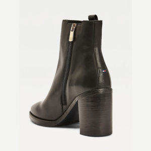 TOMMY HILFIGER INTERLOCK HIGH HEEL BOOT FW0FW05192-BDS-BLACK