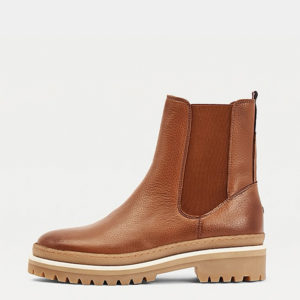 TOMMY HILFIGER RUGGED CLASSIC CHELONG SLEEVEEA BOOT FW0FW05205-GTU-NATURAL COGNAC