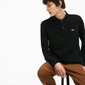 LACOSTE LONG-SLEEVE CLASSIC FIT PIQUE POLO L1312-031-BLACK
