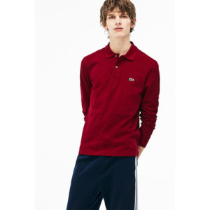 LACOSTE LONG-SLEEVE CLASSIC FIT PIQUE POLO L1312-476-BORDEAUX