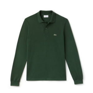 LACOSTE LONG-SLEEVE CLASSIC FIT PIQUE POLO L1312-E76-DARK GREEN