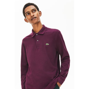 LACOSTE LONG-SLEEVE CLASSIC FIT PIQUE POLO L1312-FY5-PURPLE