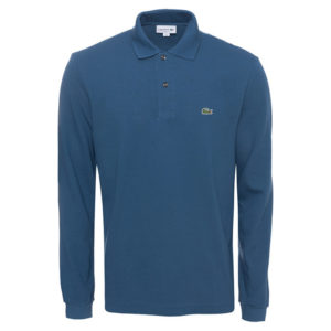 LACOSTE LONG-SLEEVE CLASSIC FIT PIQUE POLO L1312-TUL-BLUE