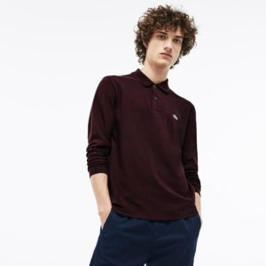 LACOSTE LONG-SLEEVE CLASSIC FIT PIQUE POLO L1312-Y29-VERTIGE