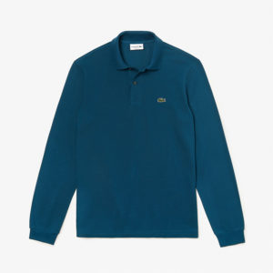LACOSTE LONG-SLEEVE CLASSIC FIT PIQUE POLO L1312-Z3T-COBALT BLUE