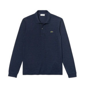 LACOSTE LONG-SLEEVE CLASSIC FIT PIQUE POLO L1313-3GF-BLUE CHINE