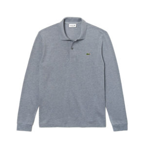 LACOSTE LONG-SLEEVE CLASSIC FIT PIQUE POLO L1313-7ZG-GREY