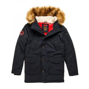 SUPERDRY EVEREST PARKA JACKET M5010204A-GKV-ATLANTIC NAVY