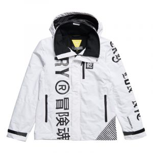 SUPERDRY ENERGY HURRICANE JACKET M5010454A-4MD-WHITE GRAPHIC