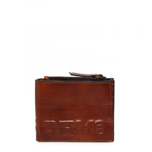 SUPERDRY PROFILE LEATHER WALLET IN TIN M92002TR 20O-TAN
