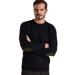 BARBOUR HARROW CASMIR SWEATER MKN0867-NY94-DARK BLUE