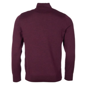 BARBOUR SALTIRE ZIP THROUGH SWEATER MKN1269-RE94-BORDEAUX