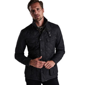 BARBOUR B.INTL WINDSHIELD TAILORED FIT QUILTED JACKET MQU0715-BK91-BLACK