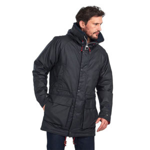 BARBOUR NORTH SEA WAXED COTTON PARKA MWX1698-NY92-SAGE