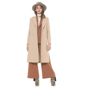 SILVIAN HEACH LONG COAT WITH POCKETS PGA19690CP-W0279-BEIGE