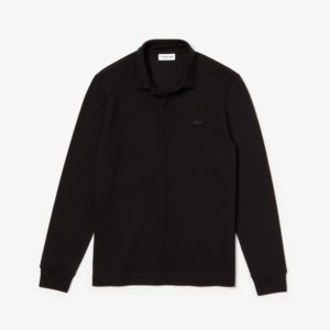 LACOSTE LONG-SLEEVE CLASSIC FIT PIQUE POLO PH2481-031-BLACK