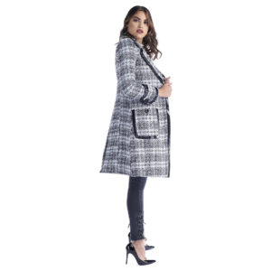 RELISH LONG COAT WITH POCKETS AND GOLIHT PATENT PROFILES RDA1905533046-BLACK