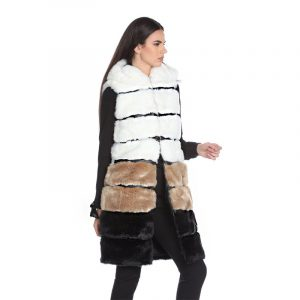 RELISH GUFERY FUR RDA2005561006-1199-BLACK/WHITE/BROWN