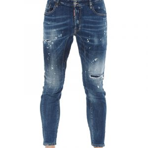 DSQUARED2 DISTRESSED SKINNY JEANS S71LB0772 S30342-470-BLUE
