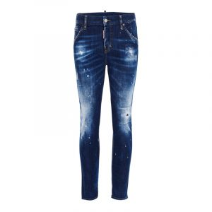 DSQUARED2 COOL GIRL CROPPED JEANS S72LB0321 S30342-470-BLUE