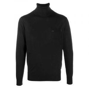 DSQUARED2 ROLL-NECK WOOL JUMPER S74HA1104 S16794-900-BLACK