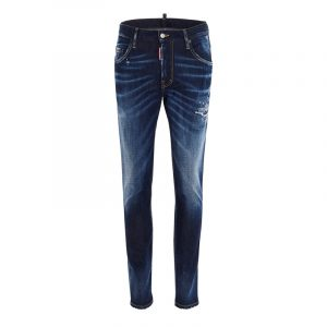 DSQUARED2 RIPPED MID-RISE SKINNY JEANS S74LB0793 S30685-470-BLUE
